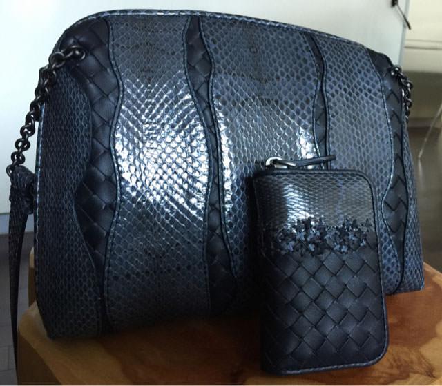 Bottega-Veneta-Snakeskin-and-Intrecciato-Shoulder-Bag