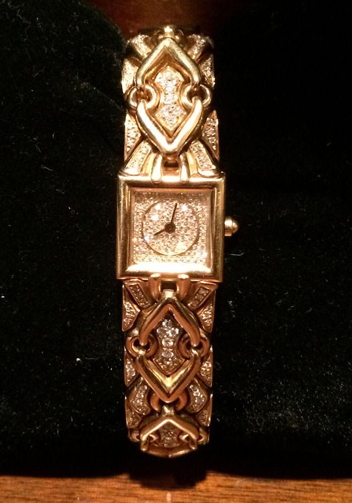 Bulgari-18k-Gold-and-Diamond-Watch