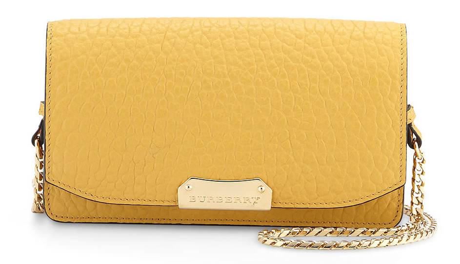 Burberry Grained Leather Crossbody Bag