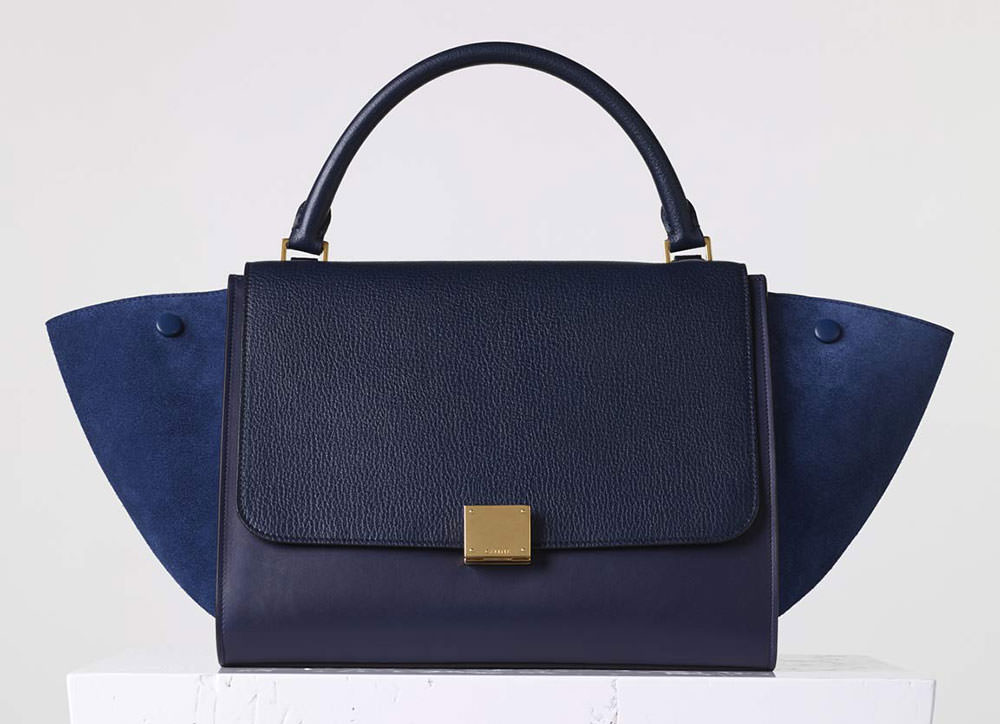 Celine-Medium-Trapeze-Bag-Navy