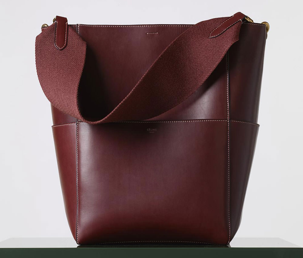 Celine-Sangle-Seau-Bag-Burgundy