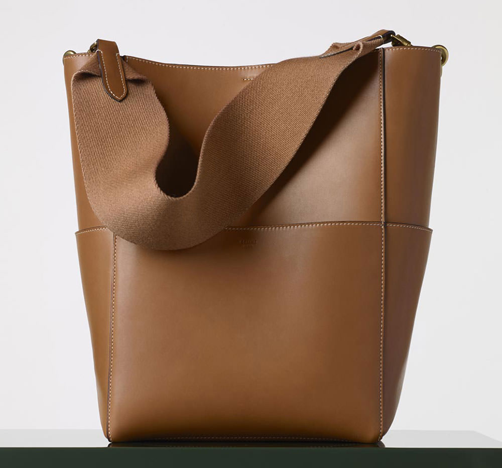 Celine-Sangle-Seau-Bag-Tan