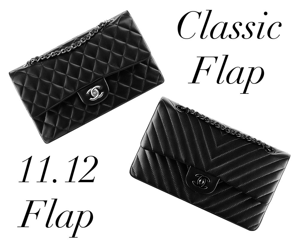 b2be377989f1 Bag Battles: The Chanel Classic Flap Bag vs. the Chanel 11.12 Flap Bag