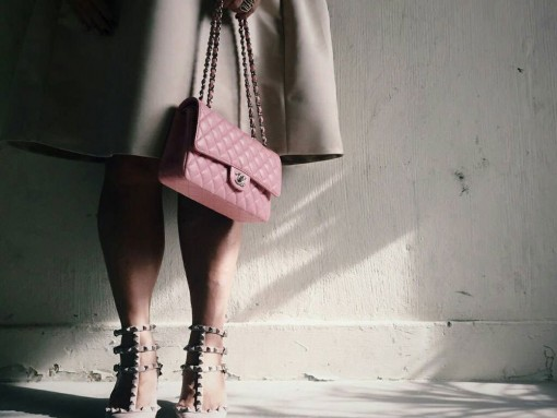 Chanel-Classic-Flap-Bag-and-Valentino-Rockstud-Pumps