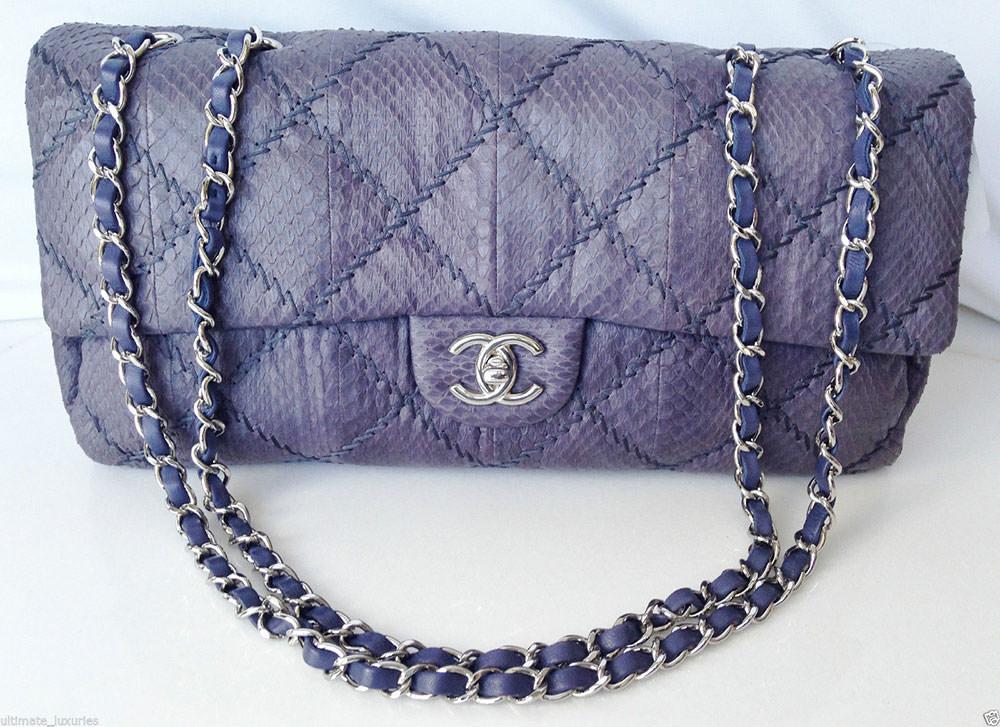 Chanel-Watersnake-Jumbo-Flap-Bag
