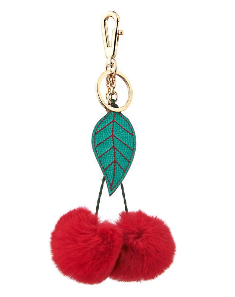 Dolce Gabbana Cherry Rabbit Fur Bag Charm 460 Via Matchesfashion Com