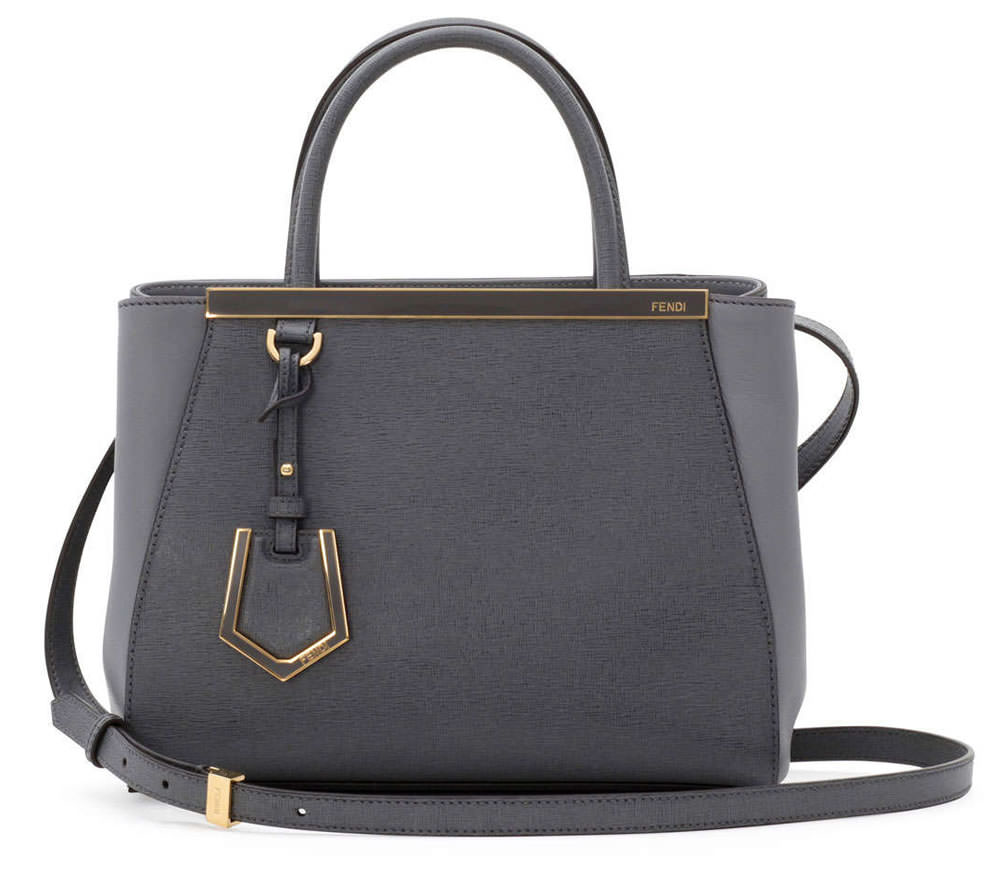 Fendi 2Jours Mini Tote Bag in Gray