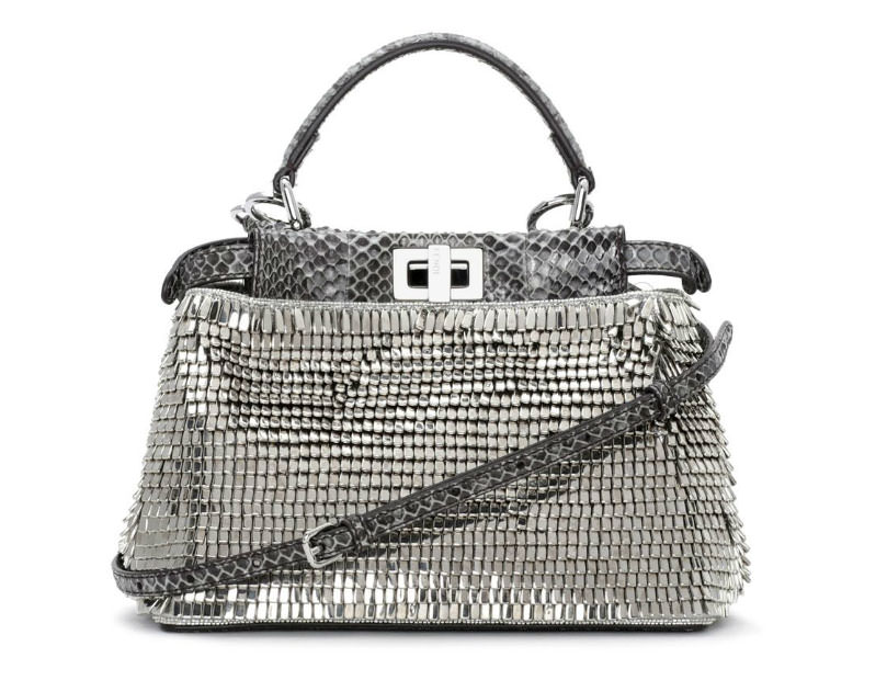 Fendi-Beaded-Snakeskin-Mini-Peekaboo-Bag