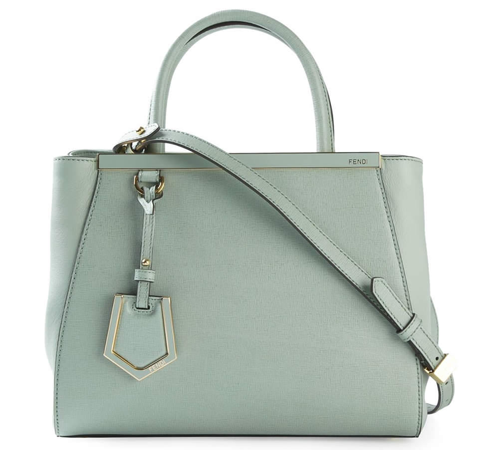 Fendi Medium 2Jours Tote in Mint
