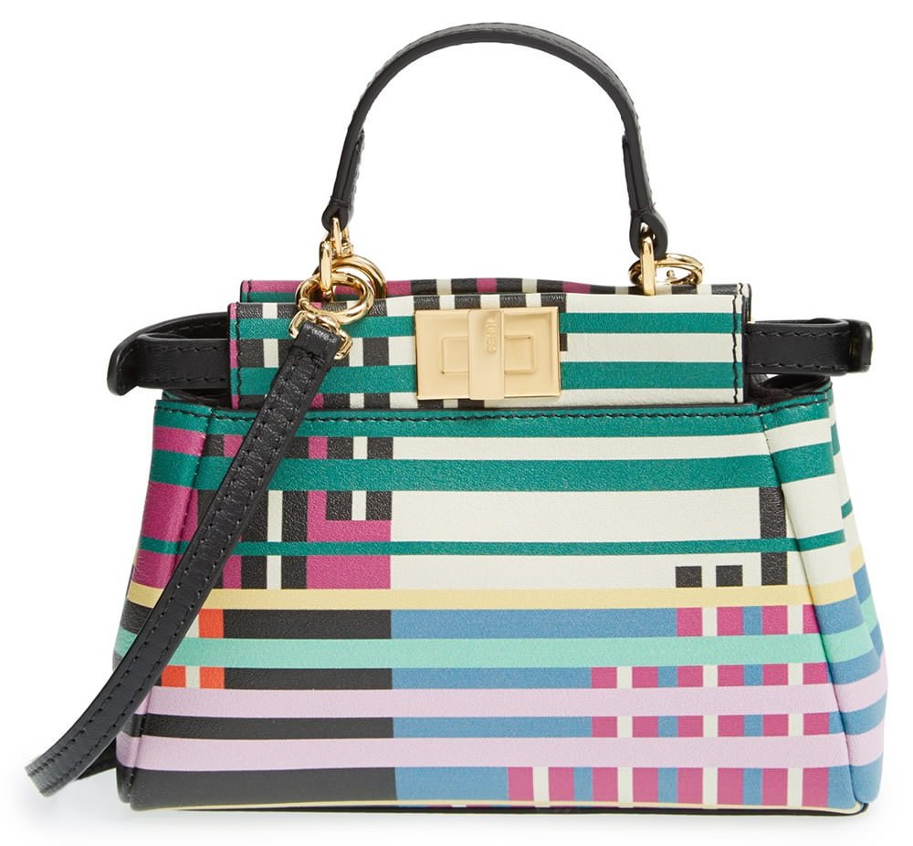 Fendi Micro Peekaboo Printed Leather Bag