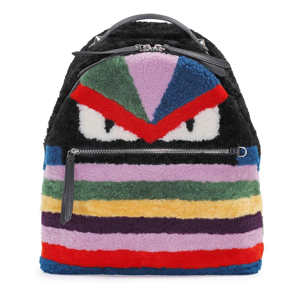 Fendi-Monster-Shearling-Fur-Backpack