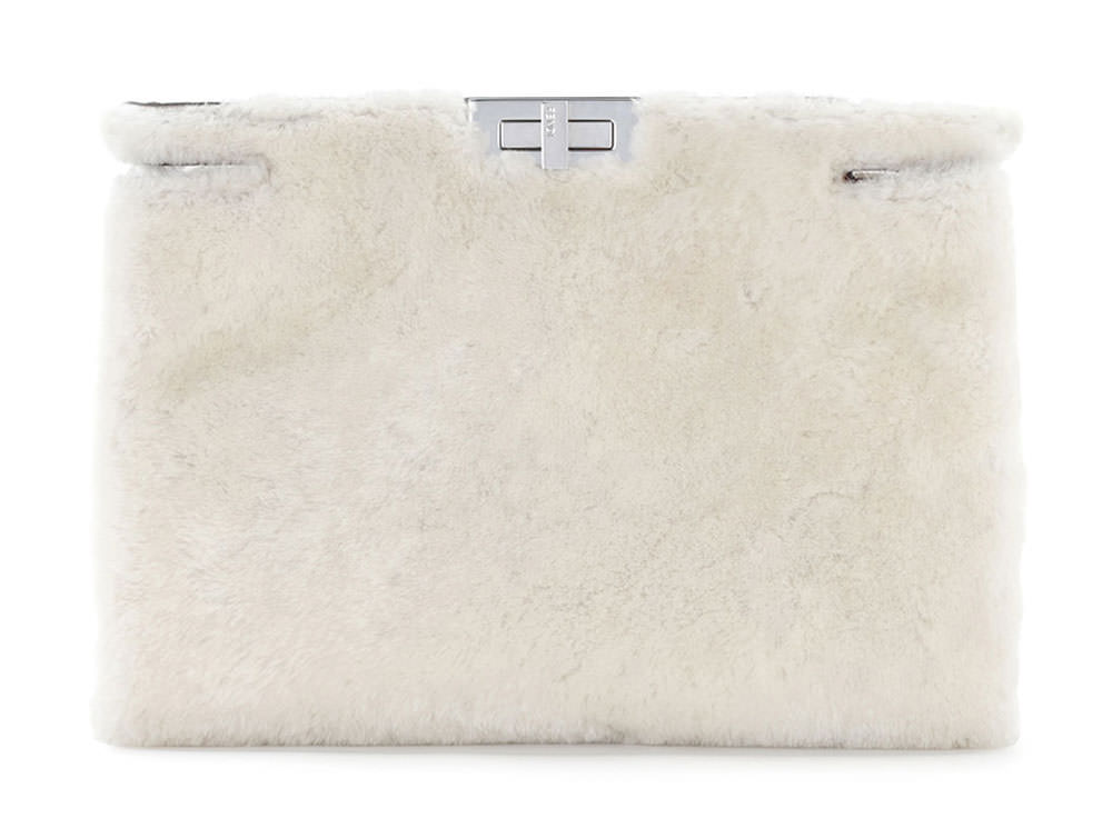 Fendi-Peekaboo-Shearling-Clutch