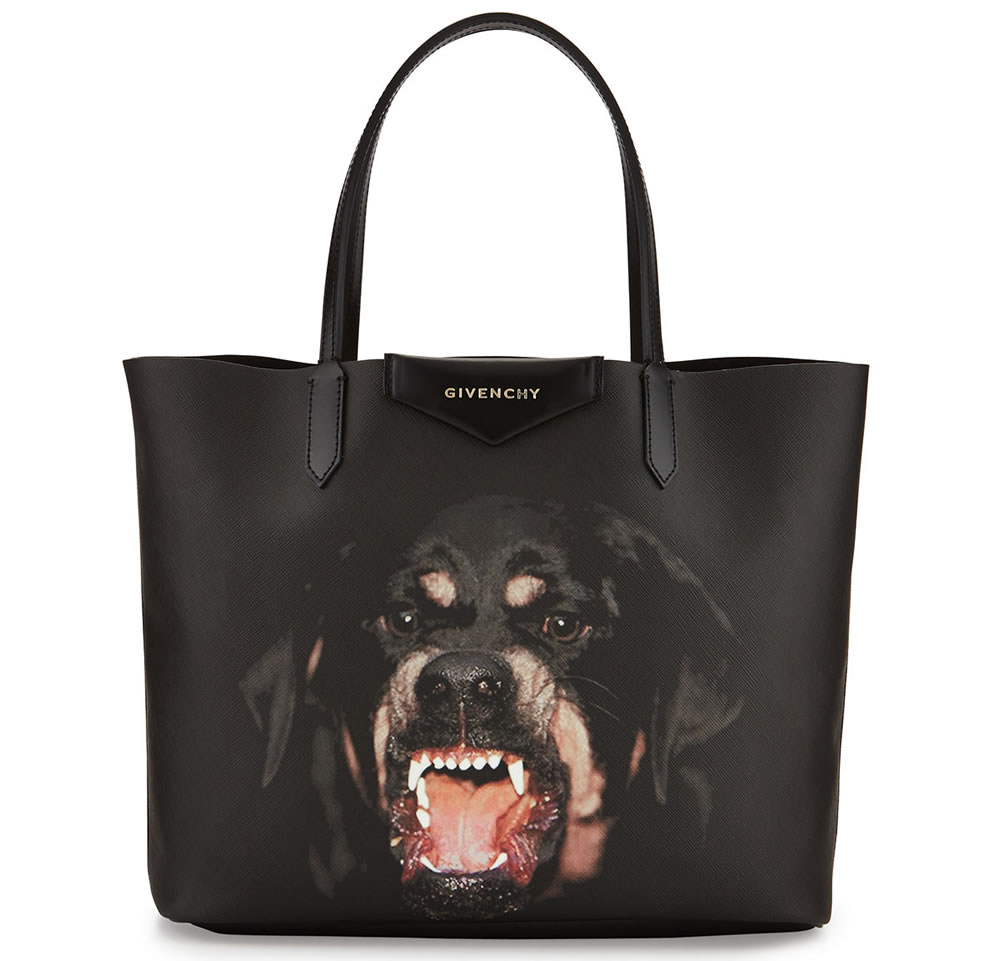 Givenchy Antigona Rottweiler Small Coated Canvas Shopping Tote Bag