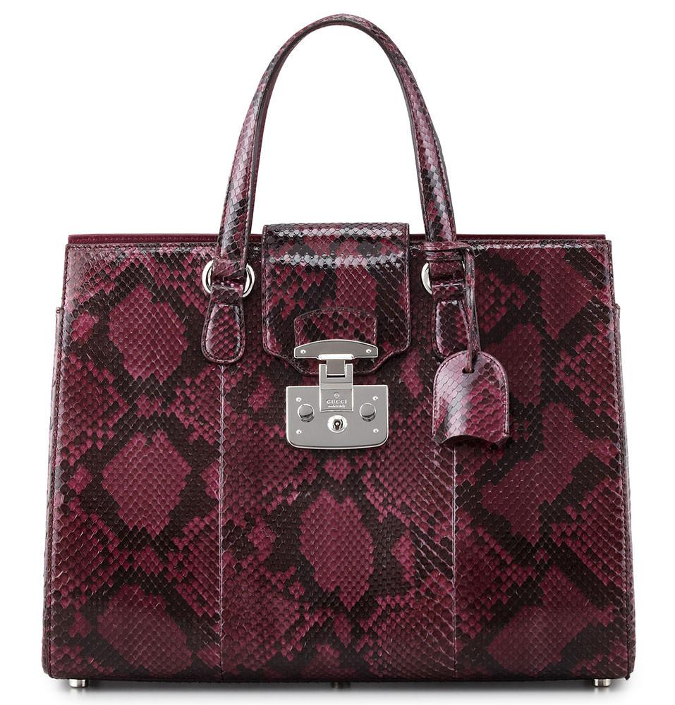 Gucci-Lady-Lock-Python-Tote