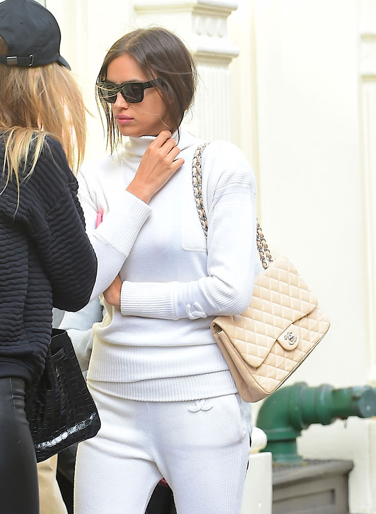 Irina-Shayk-Chanel-Classic-Flap-Bag