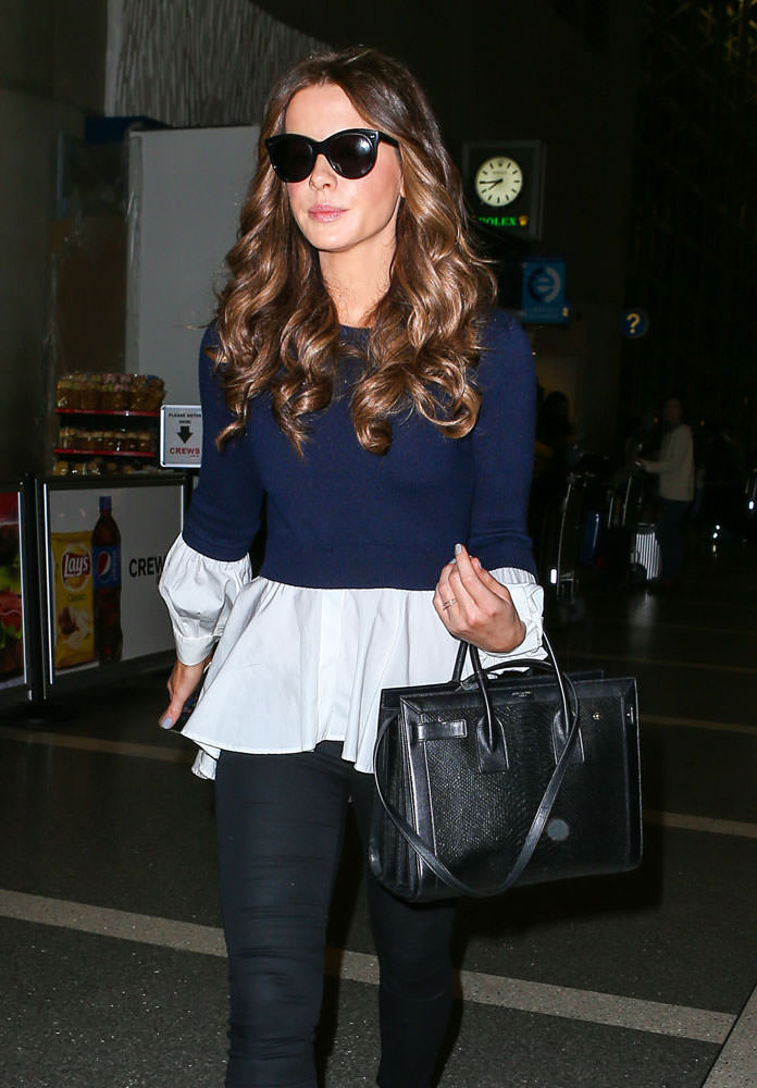yves saint laurent blue bag - 33 Stars Who Love Their Saint Laurent Sac de Jour Bags - PurseBlog