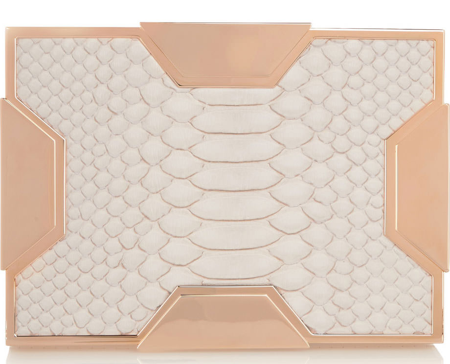 Lee-Savage-Space-Large-Python-Clutch