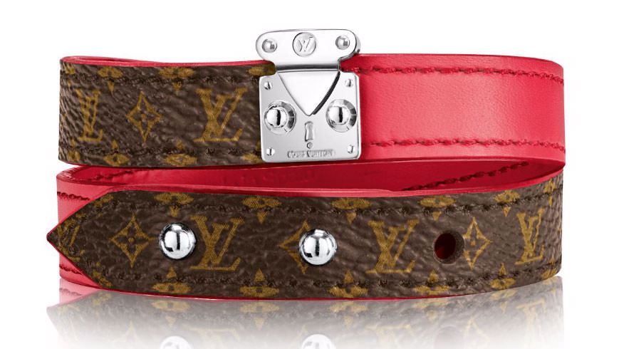 Louis-Vuitton-Lockit-Bracelet-Pink