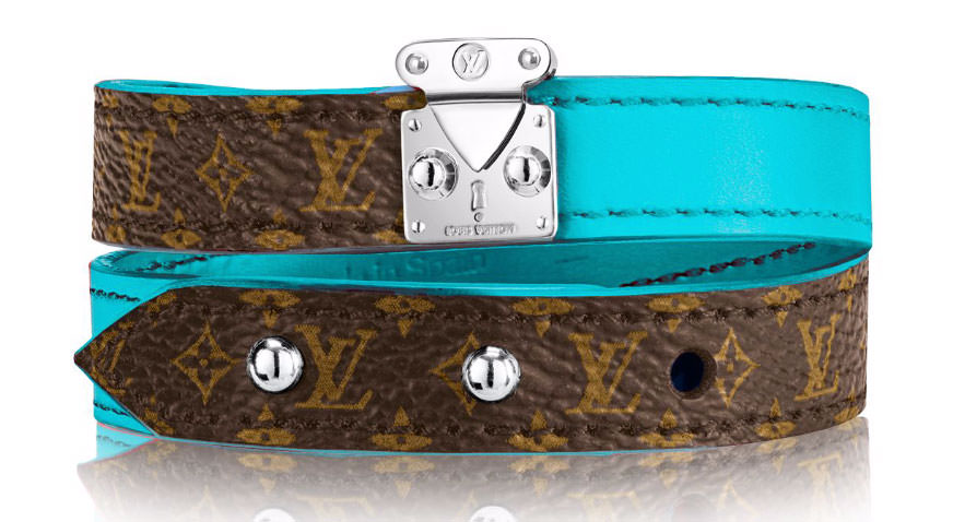 Louis-Vuitton-Lockit-Bracelet-Turquoise