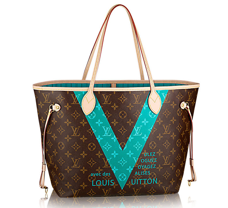 Louis-Vuitton-Monogram-V-Neverfull-MM-Tote-Turquoise