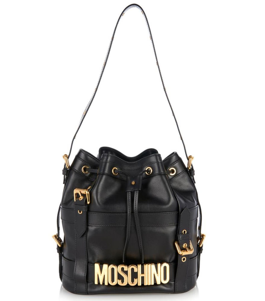 Moschino-Buckle-Bucket-Bag
