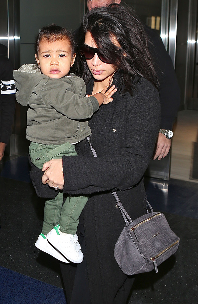 Kim Kardashian, Kanye West and North West leave cold New York