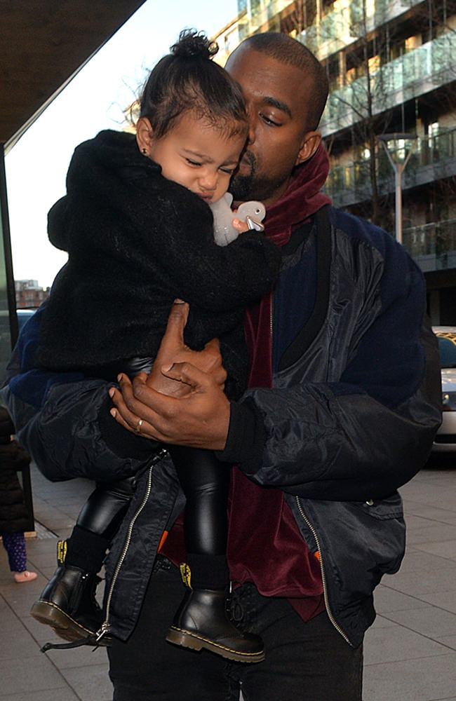 Kris Jenner, Kanye West and North West visit Purple Dragon.
