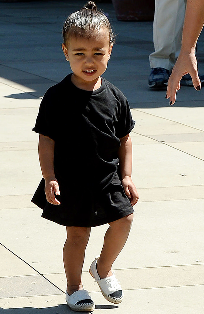 Kim Kardashian and her daughter North West go to the movies at The Commons in Calabasas, CA ***NO DAILY MAIL SALES***