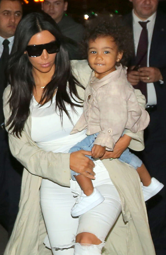 North West is very happy with mother Kim Kardashian as she come back from dinner in 1st night ever in Armenia