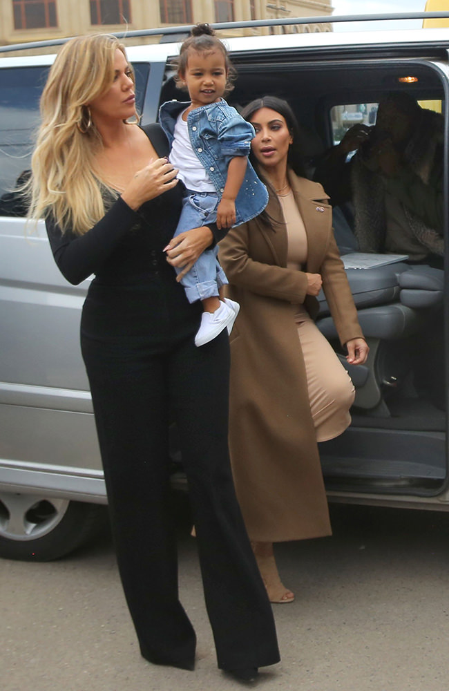 Kim Kardashian holds daughter North in arms as she visits church in Gyumri with family on her trip in Armenia