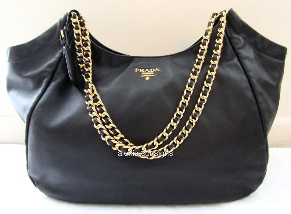 Prada-Chain-Strap-Leather-Tote