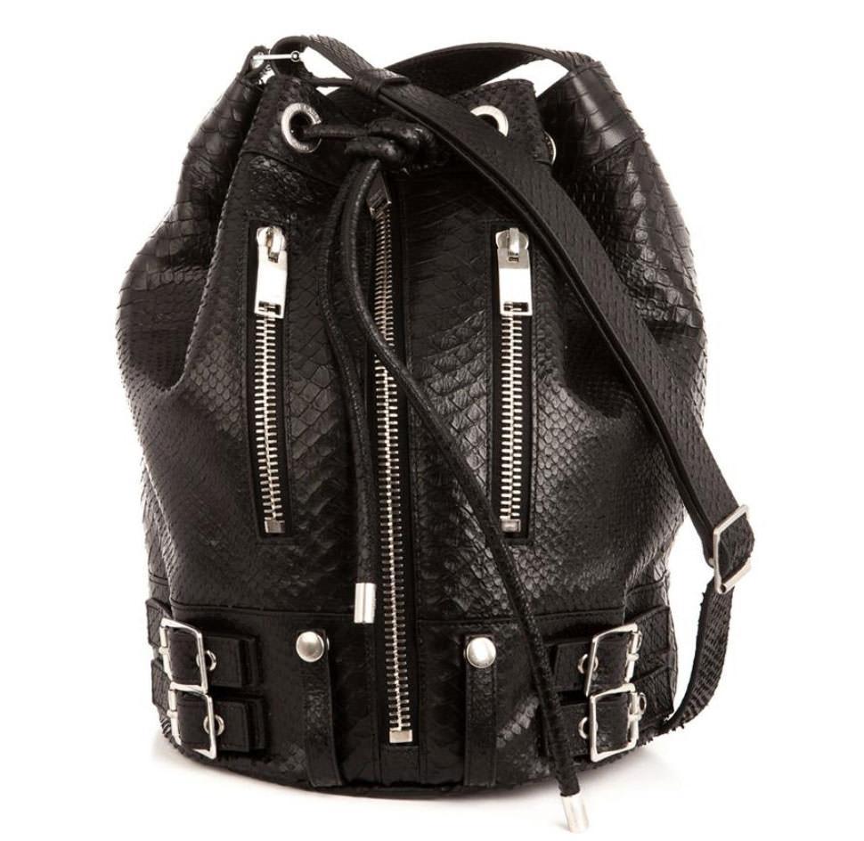 Saint-Laurent-Rider-Python-Embossed-Bag