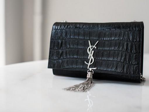What Fits: Saint Laurent Croc-Embossed Monogramme Shoulder Bag
