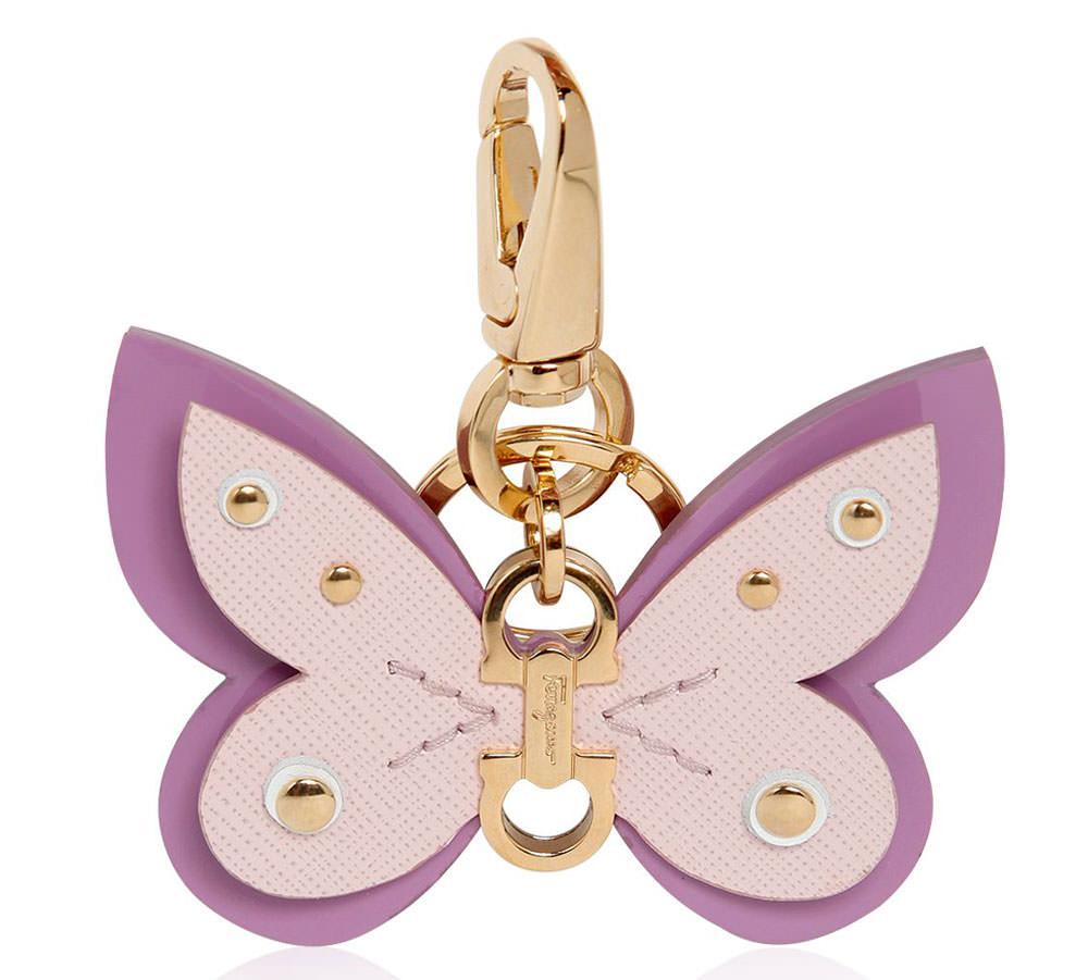 Salvatore-Ferragamo-Saffiano-Butterfly-Key-Chain
