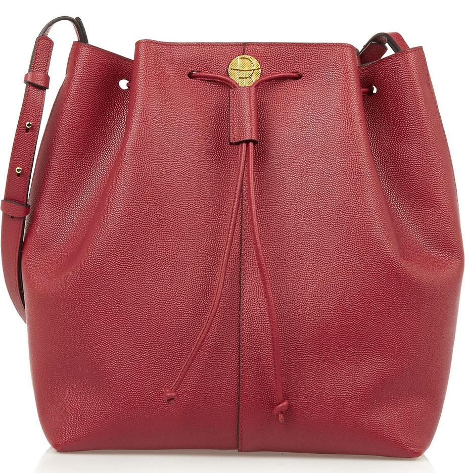 The-Row-Textured-Leather-Bucket-Bag