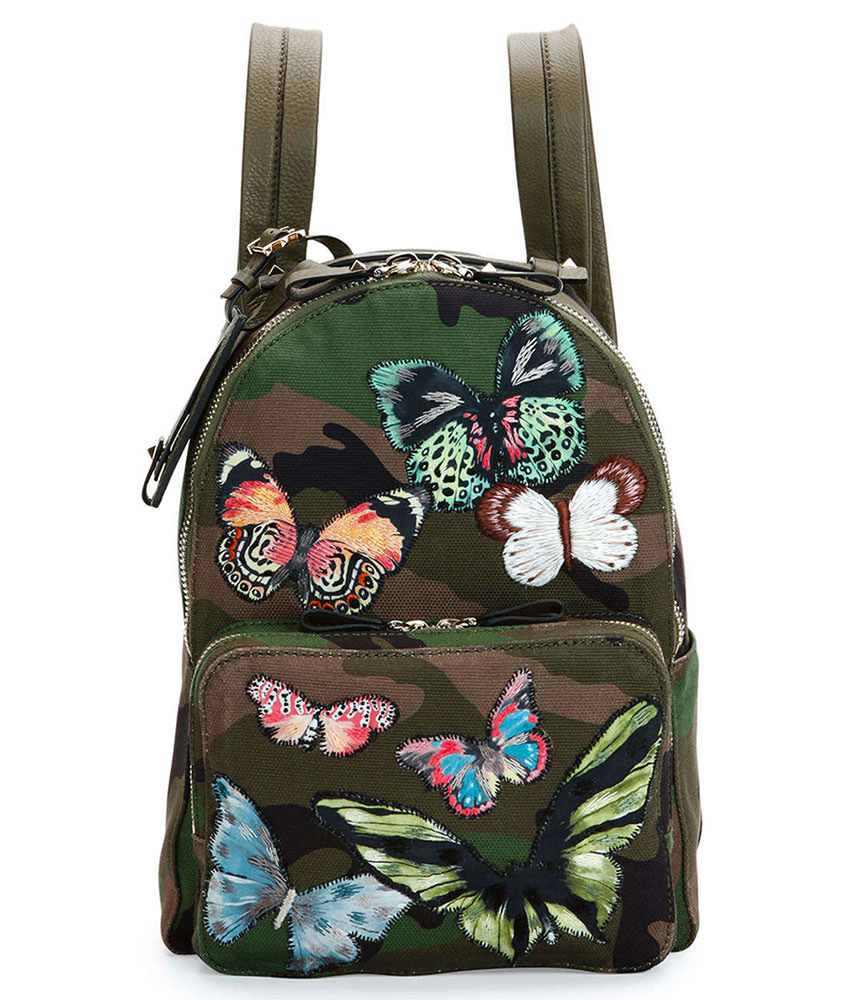 Valentino-Camo-Print-Butterfly-Backpack