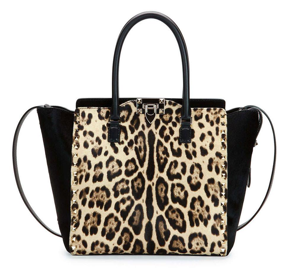 Valentino-Rockstud-Leopard-Calf-Hair-Medium-Shopper-Tote