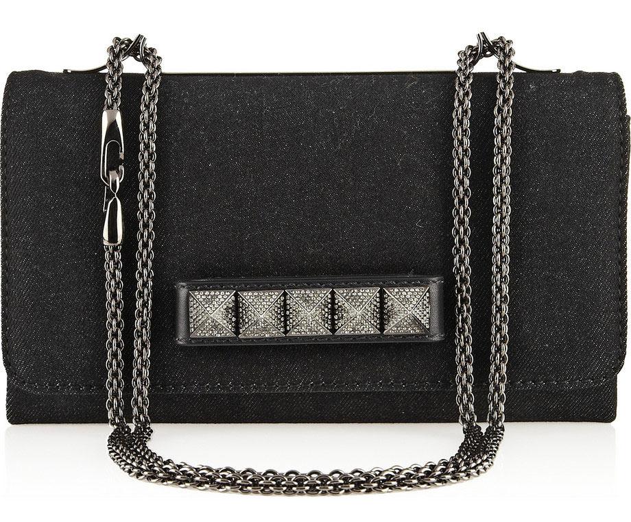 Valentino-Rockstud-Noir-Denim-Shoulder-Bag