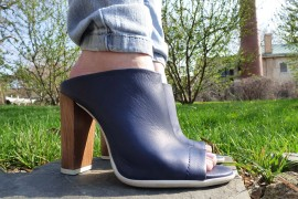 TalkShoes Testimonials: Vince Allison Peep-Toe Mules