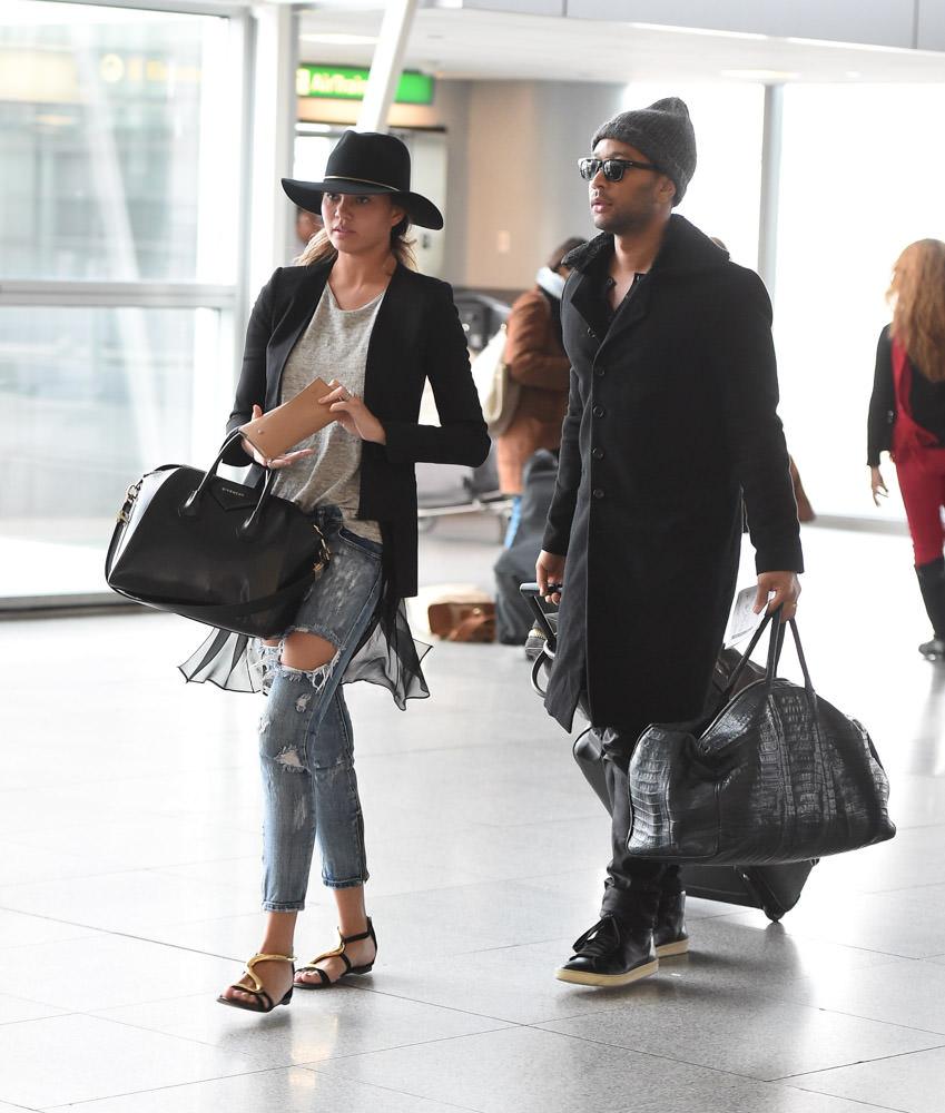 Chrissy Teigen Givenchy Antigona Bag-2