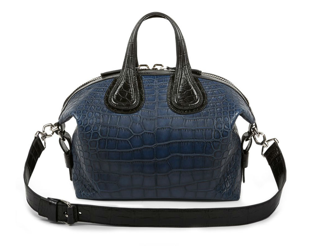 Givenchy-Nightingale-Small-Bicolor-Crocodile-Satchel