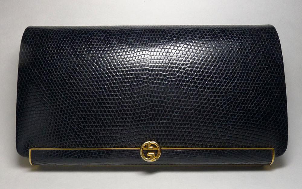 Gucci-Vintage-Lizard-Clutch