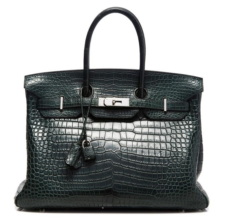 Hermes-Birkin-Vert-Fonce-Crocodile-35cm