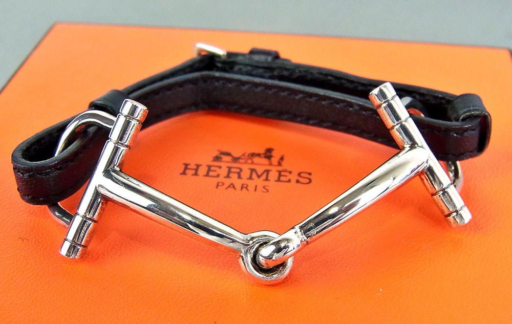 Hermes-Horsebit-Sterling-Silver-Bracelet