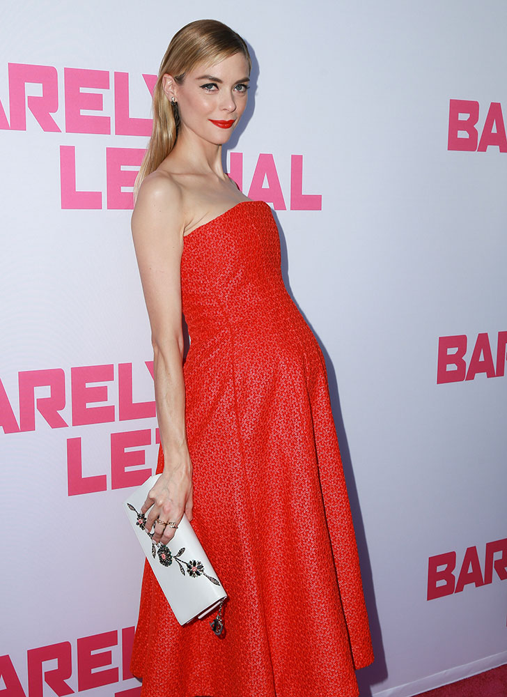 Jaime-King-Christian-Dior-Beaded-Clutch