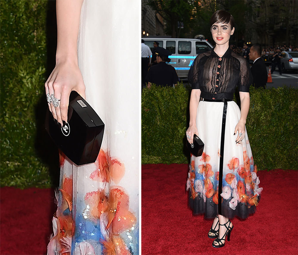 Lily-Collins-Chanel-Compact-Minaudiere