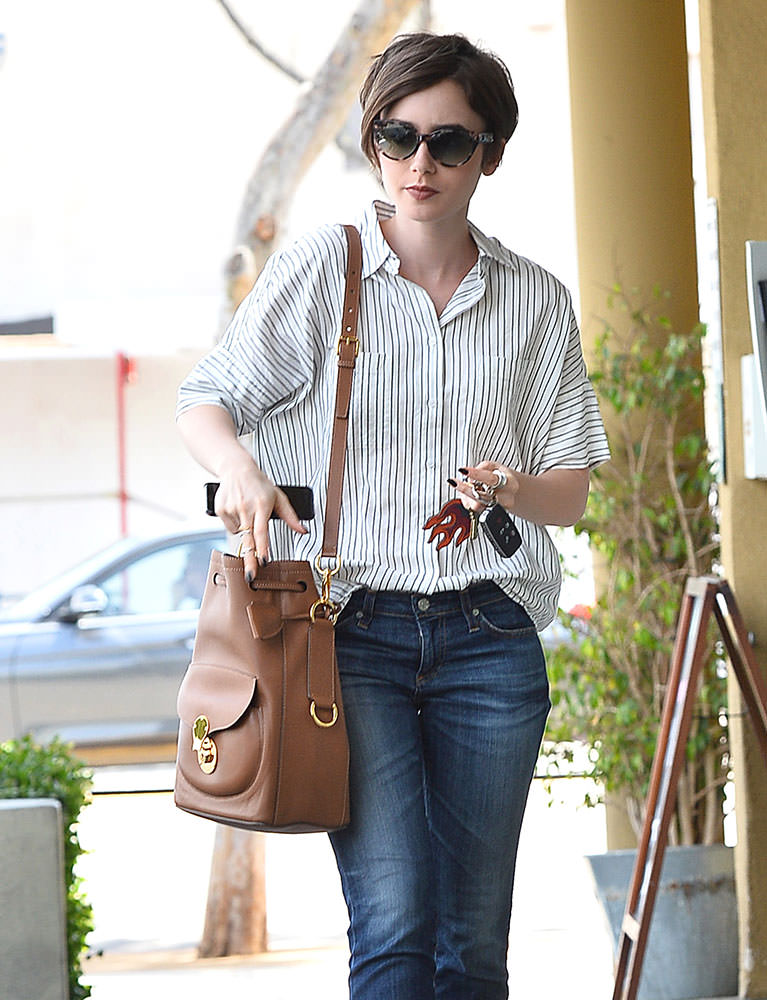 Lily-Collins-Ralph-Lauren-Ricky-Drawstring-Bag