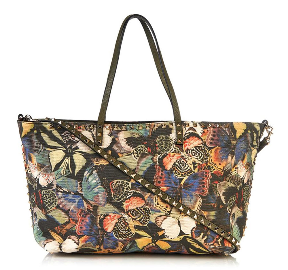 Valentino-Rockstud-Camubutterfly-Tote
