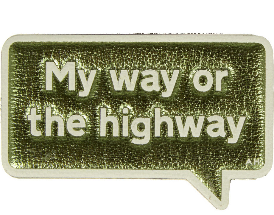 Anya Hindmarch My Way Metallic Textured-Leather adhesive Sticker