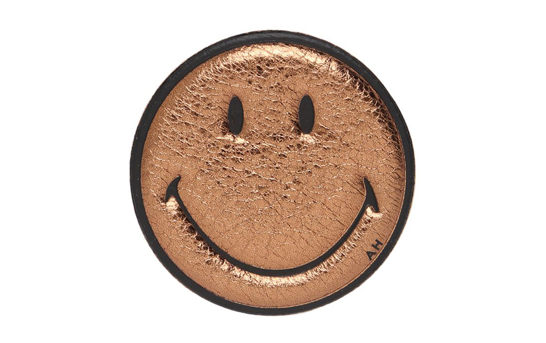 Anya Hindmarch Smile Embossed Leather Sticker
